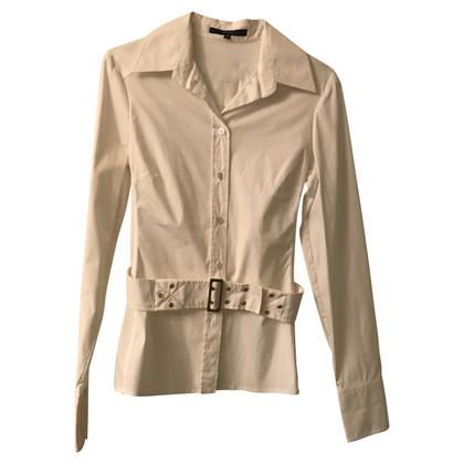 Gucci Camicia bianca in cotone con cintura