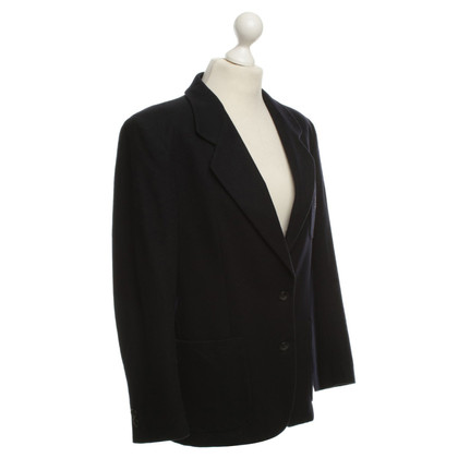 Burberry Lana giacca in blu scuro