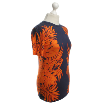 Matthew Williamson Top in arancione / blu