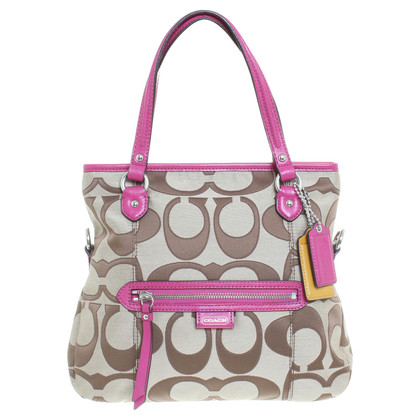 Coach Handbag in Brown / Fuchsia
