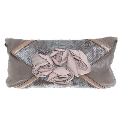 Chloé clutch from python leather