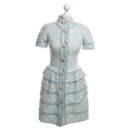 Oscar de la Renta Shirt Dress in Blue / White