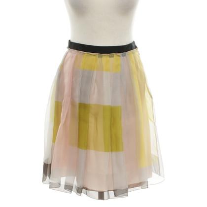 Jil Sander Silk skirt with pattern
