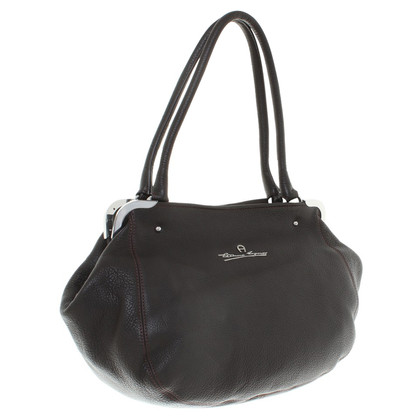 Aigner Handbag in dark brown