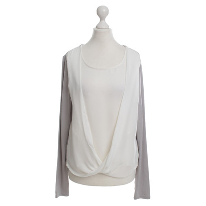 Halston Heritage top with waterfall collar