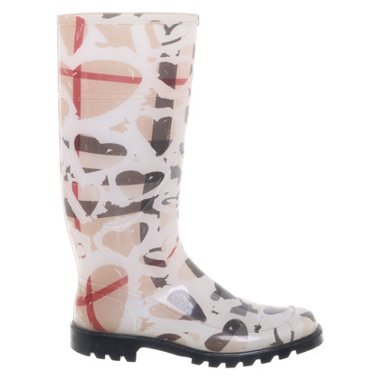 Burberry Rubber boots with pattern print