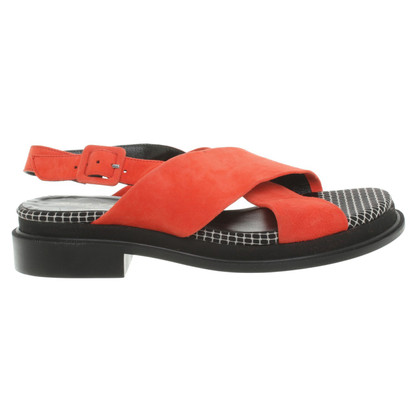 Robert Clergerie Sandals in coral red