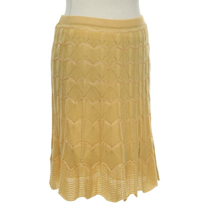 Missoni Knitted skirt in yellow