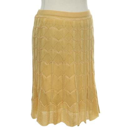 Missoni Gebreide rok in geel