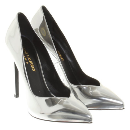 Saint Laurent Silver colored pumps