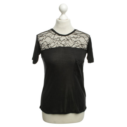 Saint Laurent T-shirt with lace