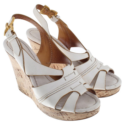 Chloé Wedges in white