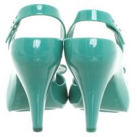 Vivienne Westwood Slingback peeptoes in turquoise