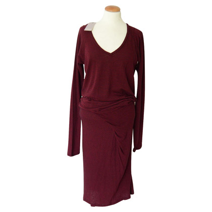 Humanoid Midi Dress in Bordeaux