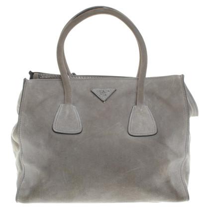 Prada Suede handbag in grey