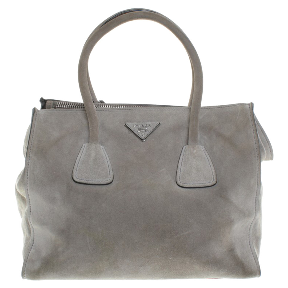 d88e0e9ed9fb Prada Grey Suede Bag | Stanford Center for Opportunity Policy in ...