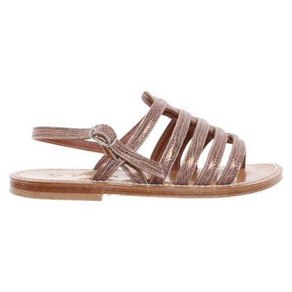 K Jacques Sandals in reptile look
