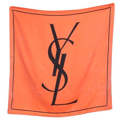 Yves Saint Laurent Zijden sjaal in Orange