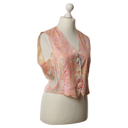 Etro Silk vest with Paisley pattern