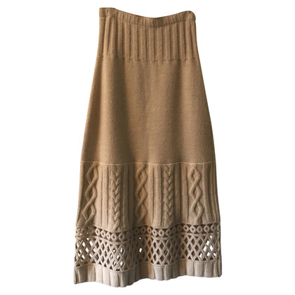 Philosophy di Alberta Ferretti Knitted skirt in beige