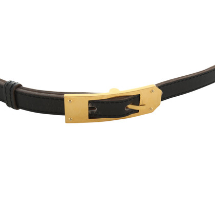 Hermès Leather Belt zwart