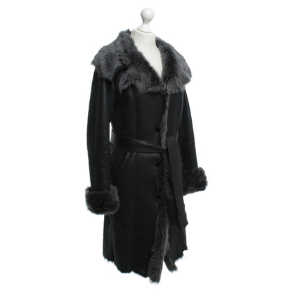 Other Designer Lambskin coat in petrol