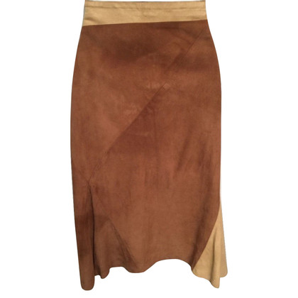Joseph Brown suede skirt