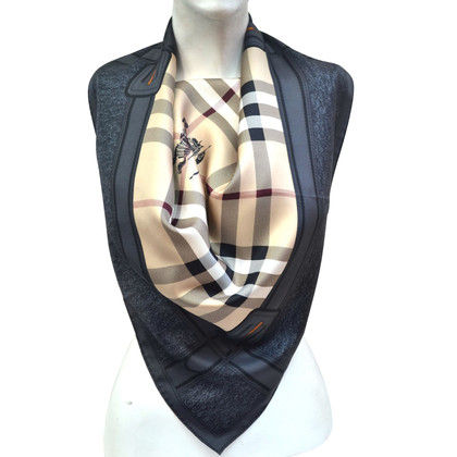 Burberry Zijden sjaal met ruitpatroon
