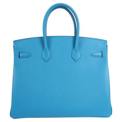 """Hermès """"Birkin Bag 35 Epsom Leather Bleu Zanzibar"""""""