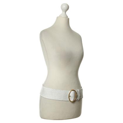 Prada Leather belt in white