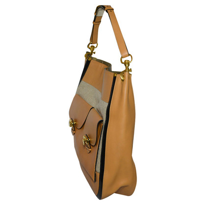 Chloé Hobo in leather and canvas
