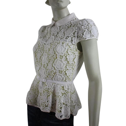 Karen Millen White laced top