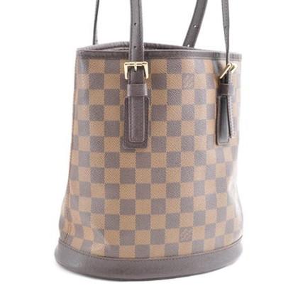 """Louis Vuitton """"Petit Bucket Bag Damier Ebene Canvas"""""""