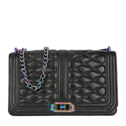 "Rebecca Minkoff ""Love Crossbody Black/Oil Slick"""