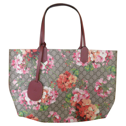 Gucci Wende-Shopper mit GG Blooms Print