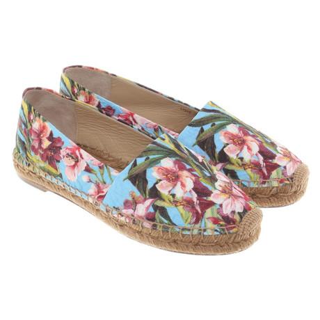 Gabbana Muster floralem Bunt Dolce mit Espadrilles amp; Dolce Muster amp; gnCtP