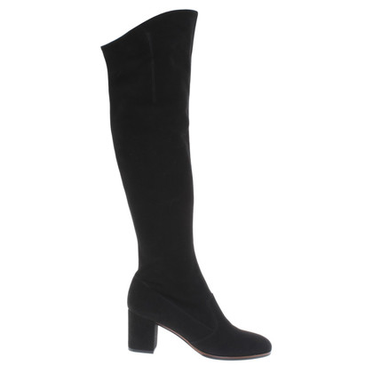 L'autre Chose Black Suede boot