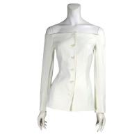 Moschino Cheap and Chic White off shoulder blazer