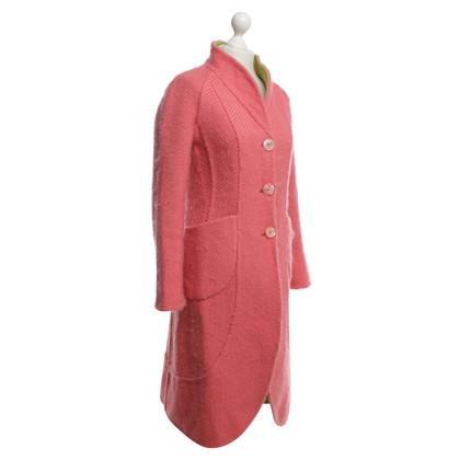 Rena Lange Pinkfarbener Wollmantel