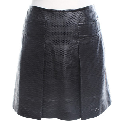 Tory Burch Leather skirt in black