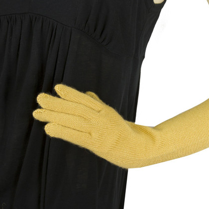 Missoni mustard  cashmere & Silk Long Gloves