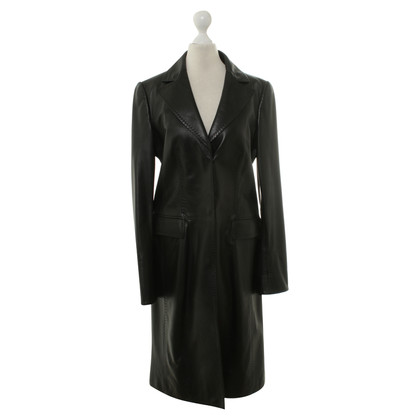 Hugo Boss Cappotto di pelle nero