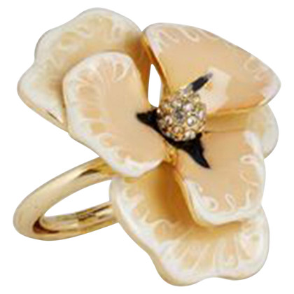 Kenneth Jay Lane Ring mit Blumen-Applikation