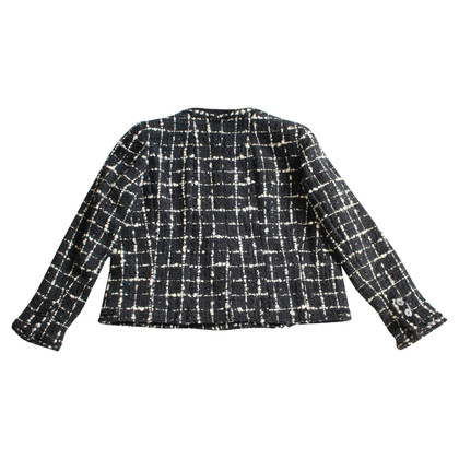 Chanel Bouclé jacket with plaid pattern