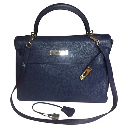 "Hermès ""Kelly Bag 32"" in saffier blauw"