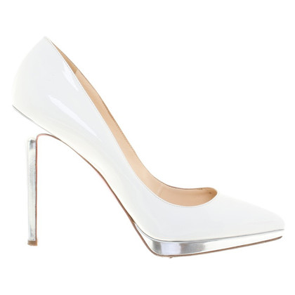 Christian Louboutin Lakleer pumps in White