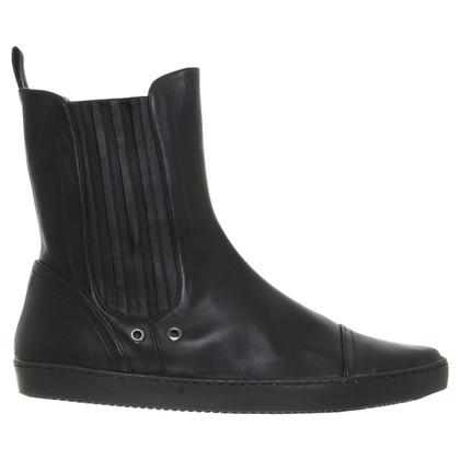 Pura Lopez Chelsea boot leather