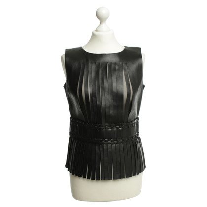 Gucci Leather top with fringes