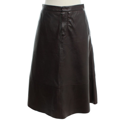Set Leather skirt in Bordeaux