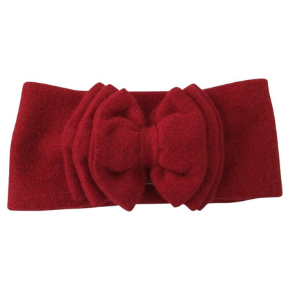 Iris von Arnim Red headband with bow
